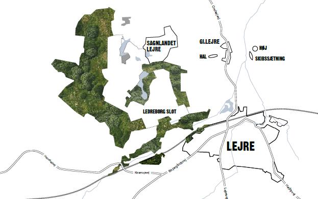 kort over lejre